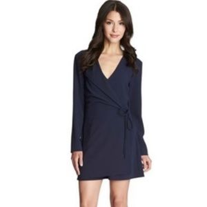 1. State Blue Long Sleeve Wrap Romper S NWT